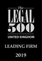 The Legal 500 UK - LEADING FIRM 2019