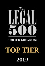 The Legal 500 UK - TOP TIER 2019