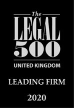 The Legal 500 UK - LEADING FIRM 2020
