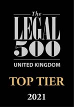 The Legal 500 UK - TOP TIER 2021