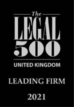 The Legal 500 UK - LEADING FIRM 2021